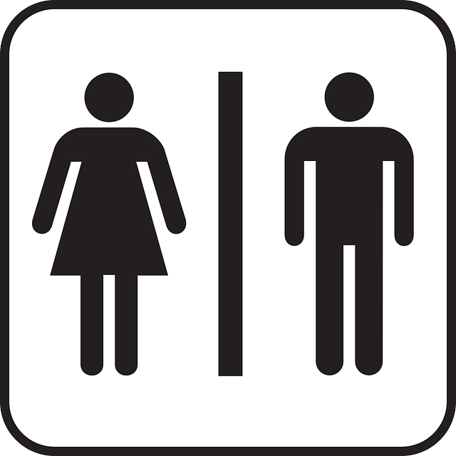commercial bathroom sign